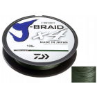 Plecionka Daiwa J-Braid X4 0,13mm 135m Dark Green