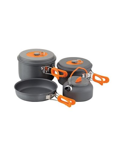 Czajnik 0,8L + Garnek 1,2L + Garnek 2,2L + Patelnia 20x4cm Chub All In One Cook Set 4psc