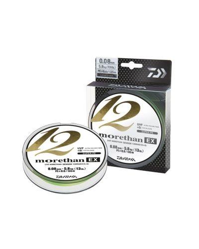 Plecionka Morethan EX+SI 12 Braid 0,08mm 5,80kg 135m Lime Green