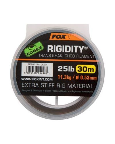 Żyłka Fox Do Chod Rig Edges Rigidity Chod Filament 0,53mm 11,3kg 25lbs 30m Trans Khaki