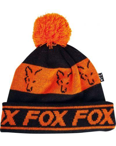 Czapka Fox Black Orange Lined Bobble
