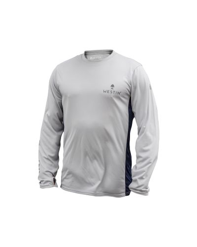 Koszulka Westin Pro UPF Long Sleeve Grey/Navy Blue #XXL