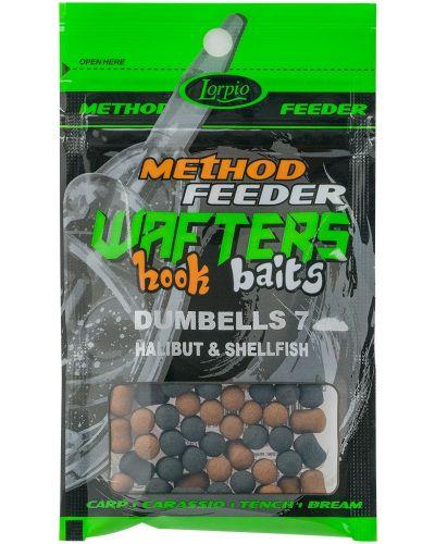 Dumbells Wafters Lorpio Hook Baits 7x10mm Halibut & Shellfish 15g