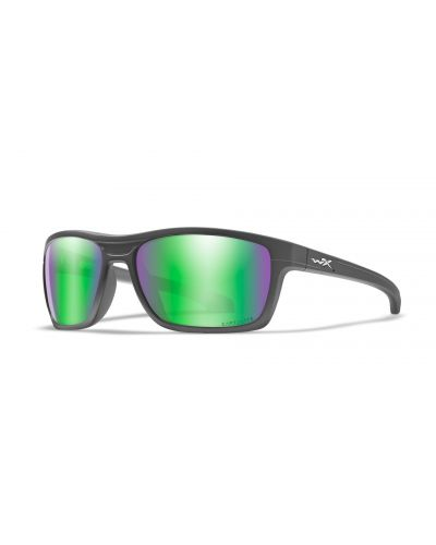 Okulary Wiley X Kingpin Captivate Polarized Green Mirror Amber Matte Graphite Frame