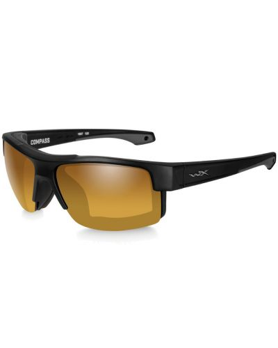 Okulary Wiley X Compass Polarized Gold Mirror Amber Lens Matte Black Frame