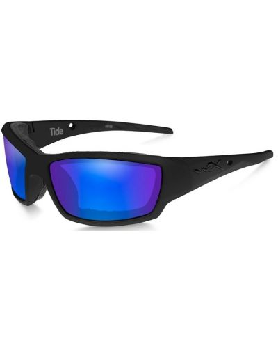 Okulary Wiley X Tide Polarized Blue Mirror Gloss Black Frame