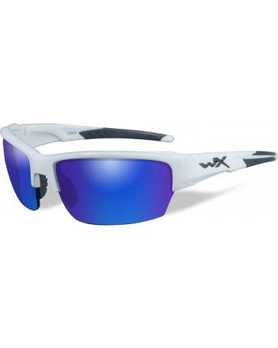 Okulary Wiley X Saint Polarized Blue Mirror Gloss White Frame