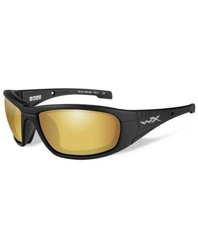 Okulary Wiley X Boss Polarized Gold Mirror Lens Matte Black Frame