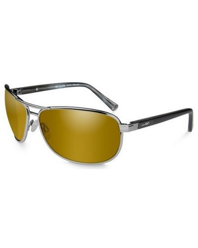 Okulary Wiley X Klein Polarized Gold Mirror Amber Lens Frame Gunmetal Frame