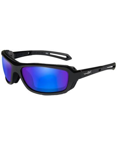 Okulary Wiley X Wave Polarized Blue Mirror Green Lens Gloss Black Frame