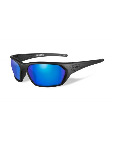 Okulary Wiley X Ignite Polarized Blue Mirror Lens Matte Black Frame