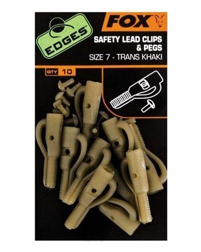 Bezpieczny Klips Fox Safety Lead Clips & Pegs #10 Khaki