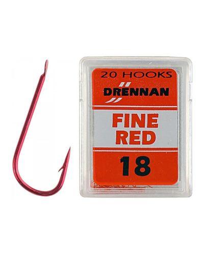Haczyki Drennan Fine Red Nr 18 20szt