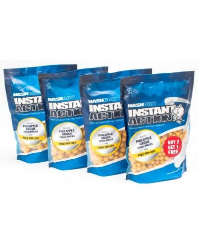 Crush Boilies Nash Instant Action 15mm 1kg Pineapple