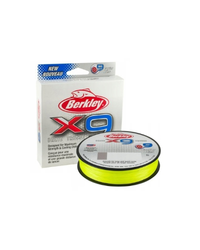 Plecionka Berkley X9 Braid Fluo Green 0.06mm 150m