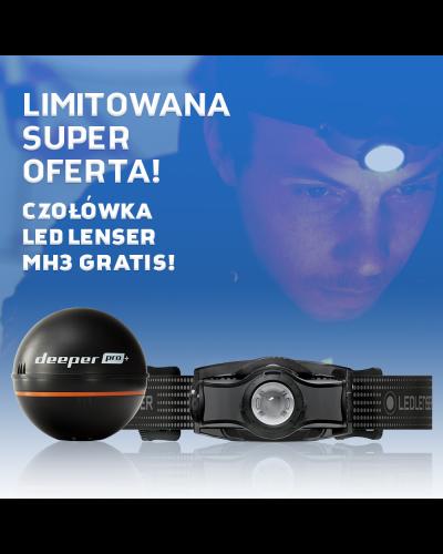Echosonda Deeper Smart Sonar PRO+ Latarka Ledlenser Gratis