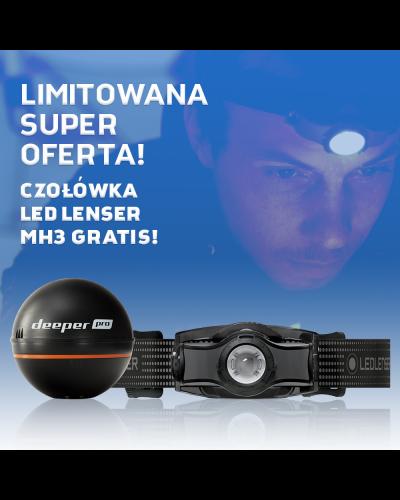 Echosonda Deeper Smart Sonar PRO Latarka Ledlenser Gratis